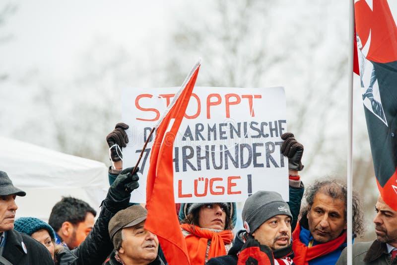 亚美尼亚人和土耳其犹太人散居地抗议 库存图片