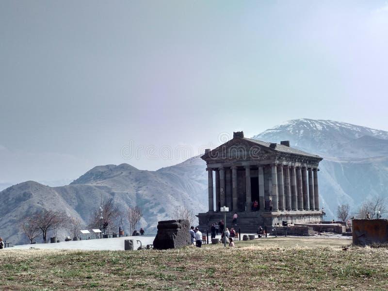 亚美尼亚共和国加尼大庙 免版税图库摄影