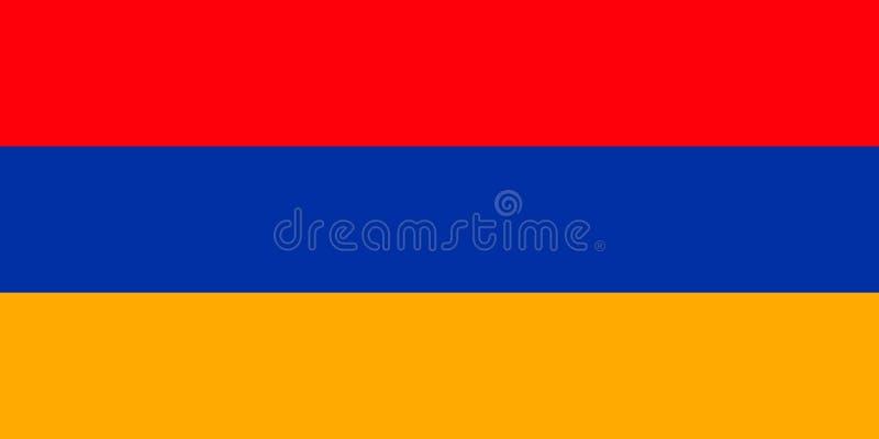 亚美尼亚国旗 r 耶烈万 库存例证