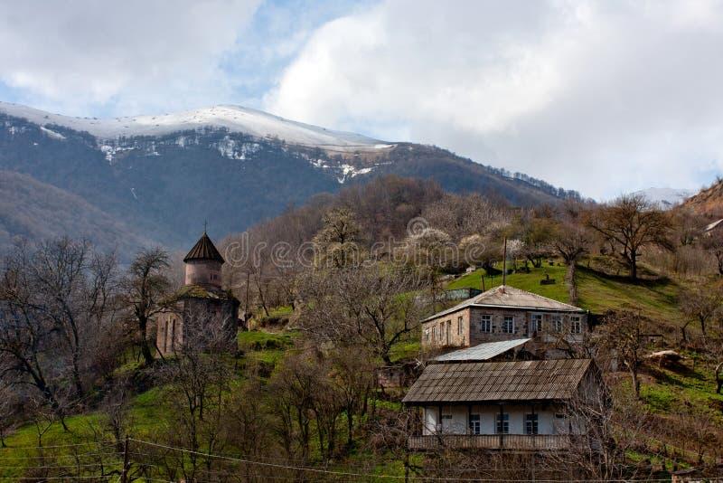 亚美尼亚山城镇 库存照片