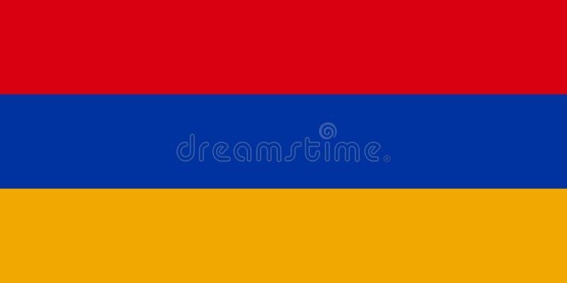 亚美尼亚的国旗 向量例证