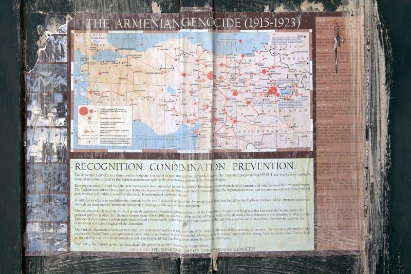 亚美尼亚种族灭绝历史 免版税库存照片
