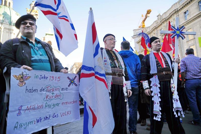 亚美尼亚种族灭绝周年示范在维也纳 免版税库存照片