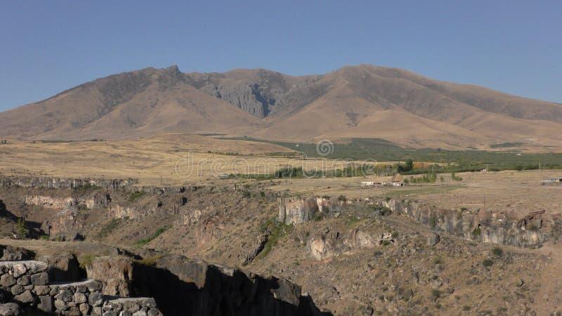 亚美尼亚,阿拉加措特恩省省 Aramount的秋天颜色 图库摄影