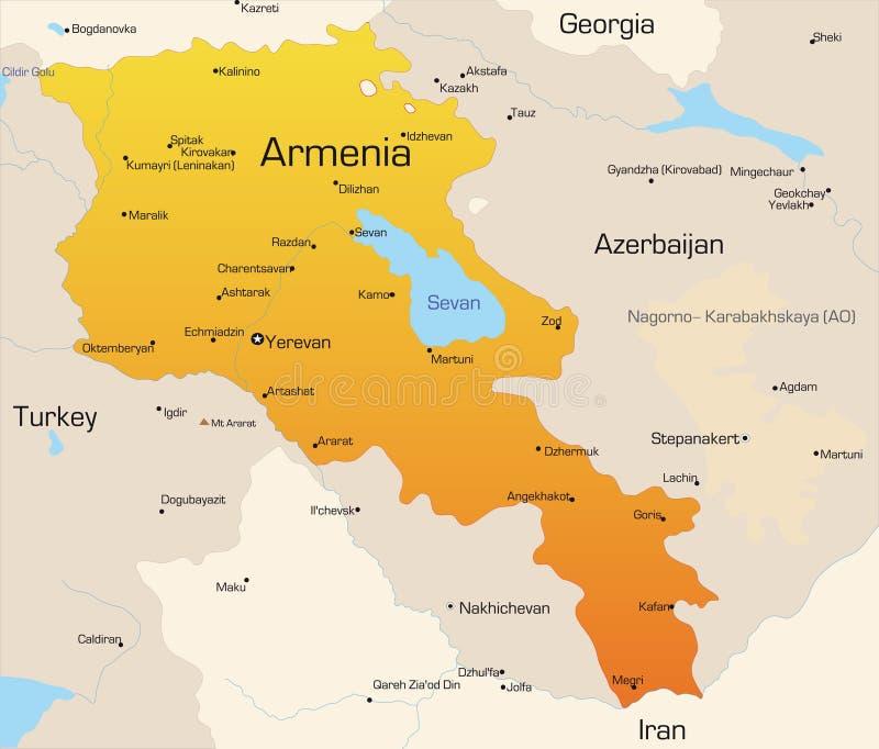 亚美尼亚 向量例证