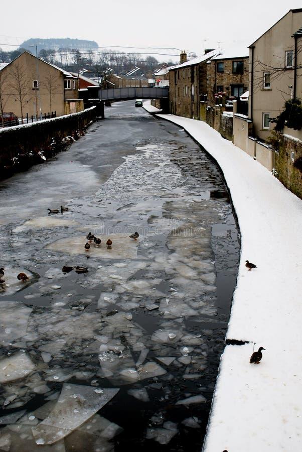 冻亚耳河, Skipton 免版税库存图片