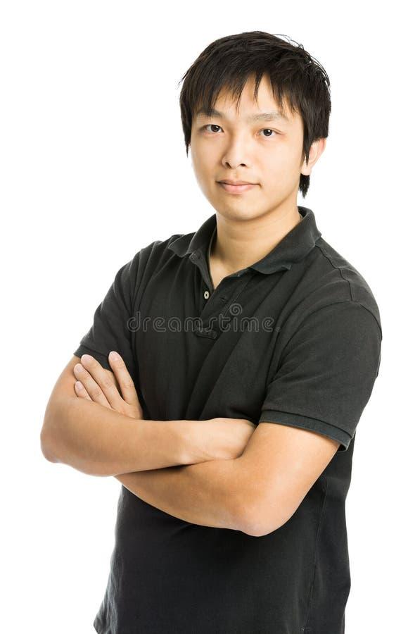 年轻亚裔人 免版税库存照片
