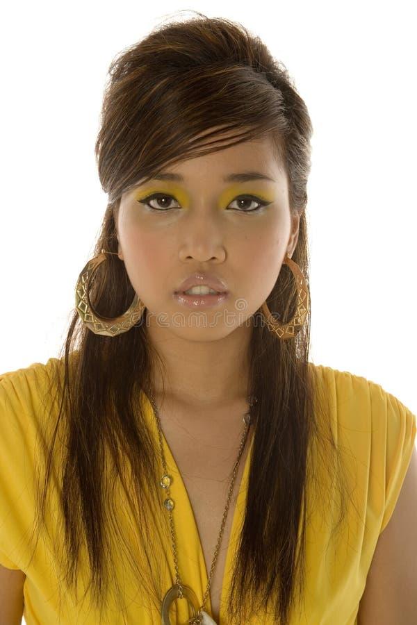 亚裔俏丽的妇女 库存图片