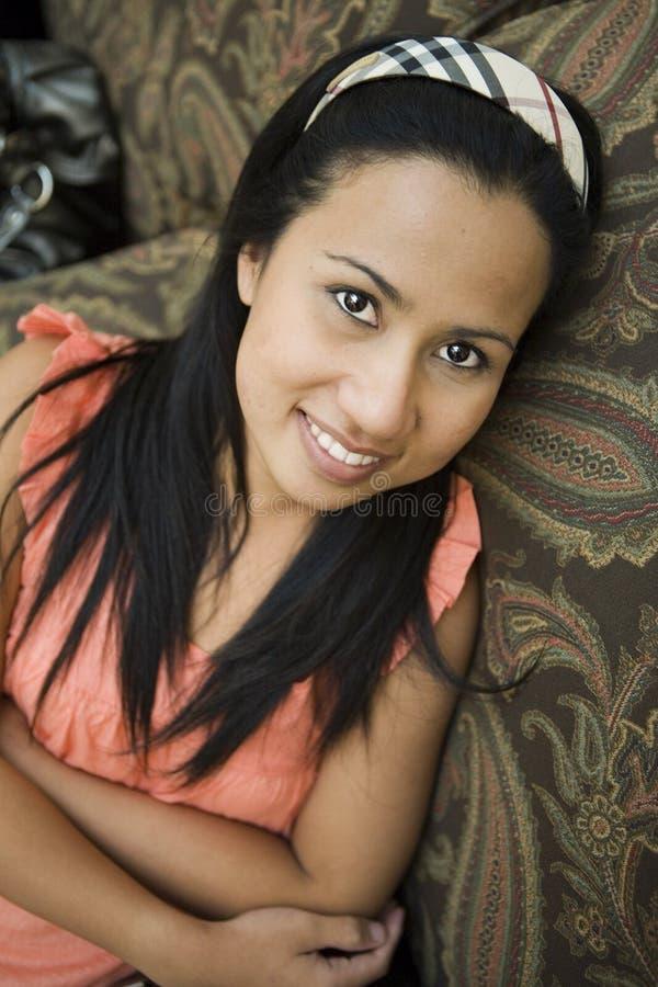亚裔俏丽的妇女 库存照片