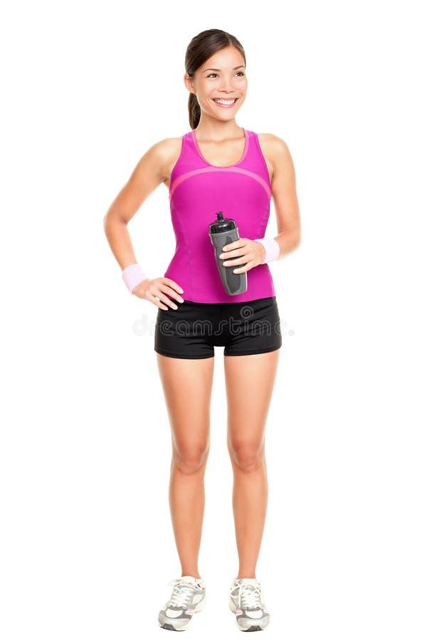 亚裔健身妇女模型身分 图库摄影