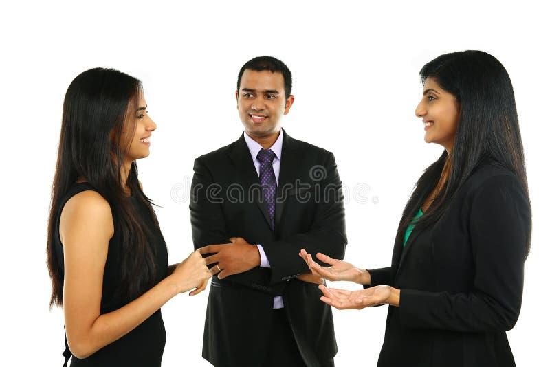亚裔印地安商人和女实业家小组的 免版税库存图片