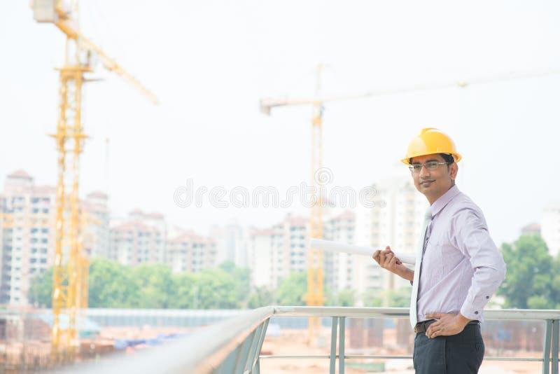 亚裔印地安建筑师 免版税库存图片