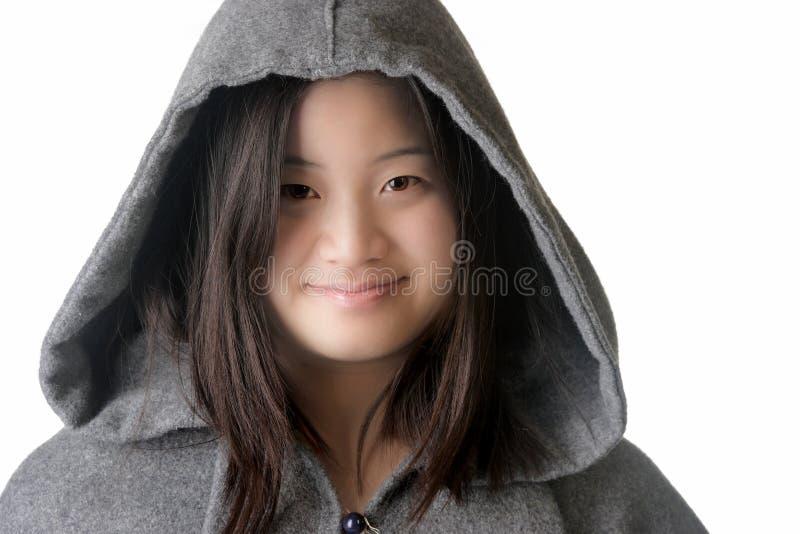 亚裔可爱的妇女 免版税图库摄影