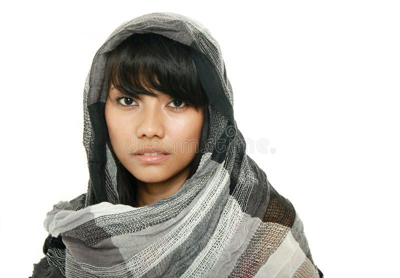 亚裔回教妇女 免版税库存照片