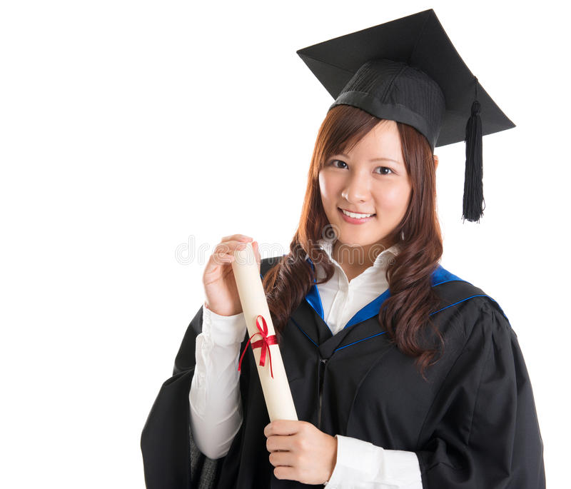 亚裔大学生 免版税库存照片