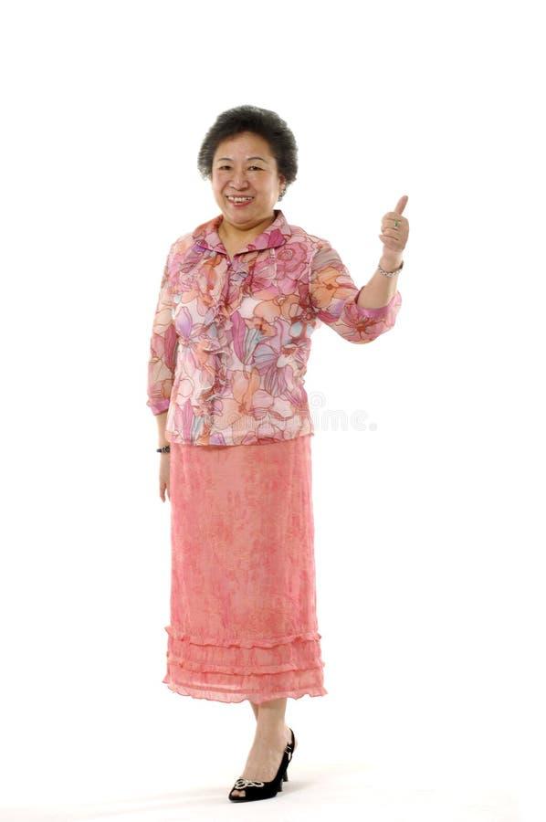 亚裔夫人前辈二 免版税库存照片