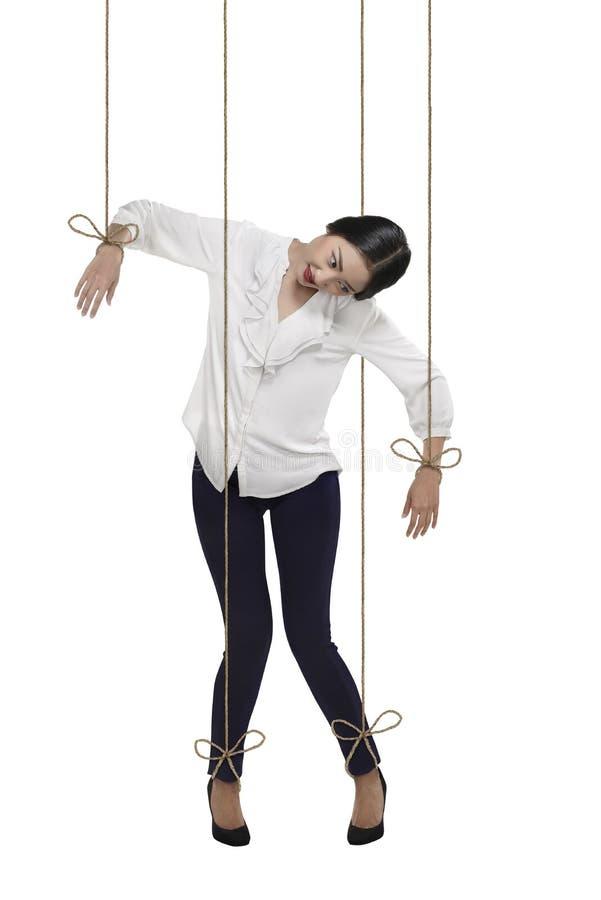亚裔女商人有串附有她的身体 库存照片