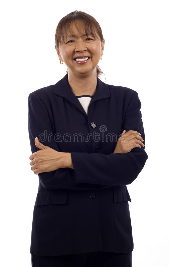 亚裔女商人 免版税库存照片