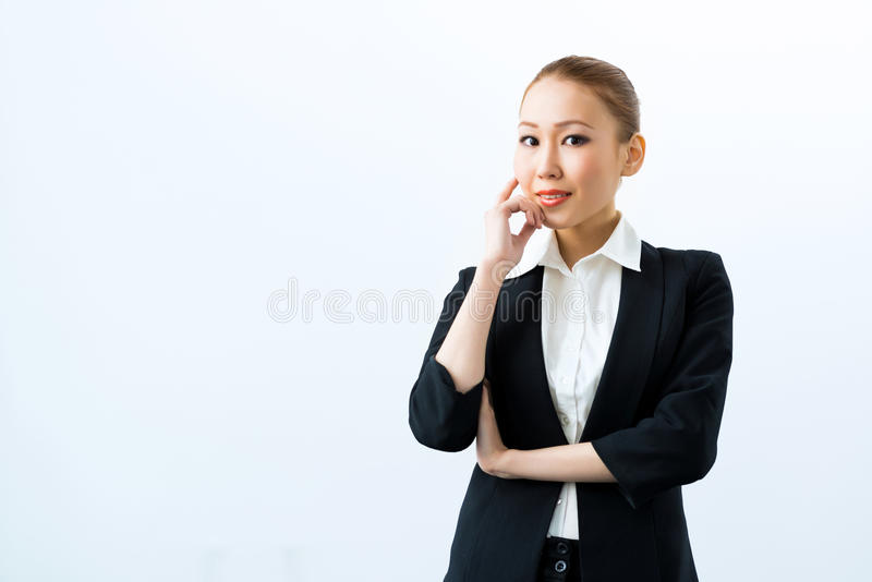 亚裔女商人 免版税库存图片