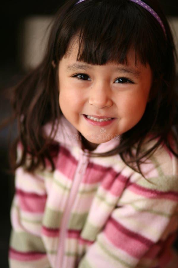 亚裔女孩小的幼稚园 库存照片