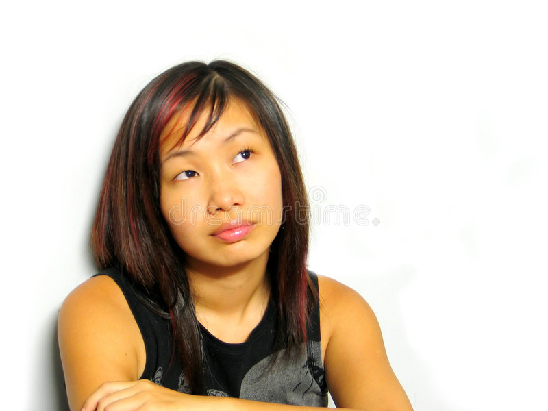 亚裔女孩 库存图片
