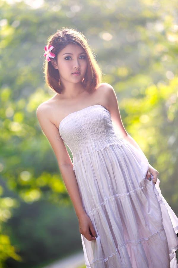 年轻亚裔女孩 库存图片