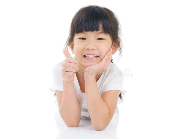 亚裔女孩 免版税库存照片