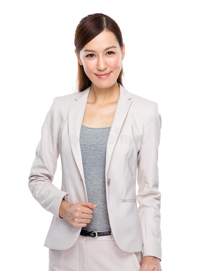 亚裔女实业家 免版税图库摄影