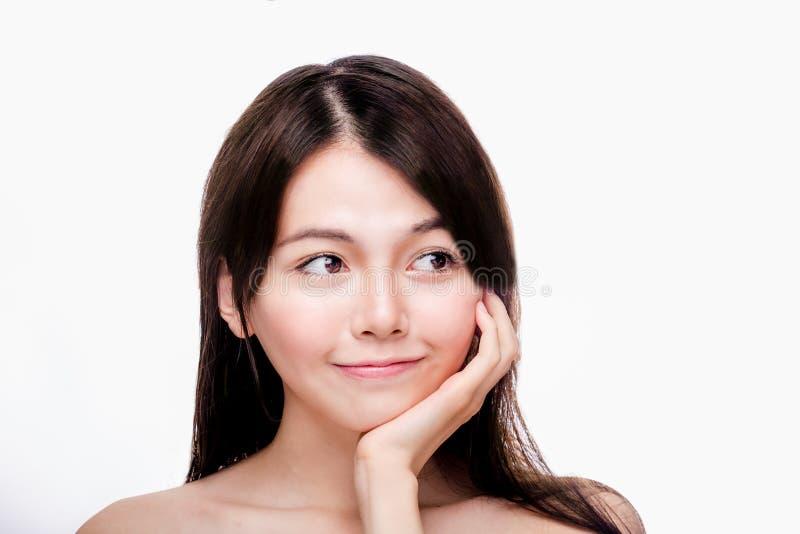亚裔女性秀丽画象  免版税库存图片