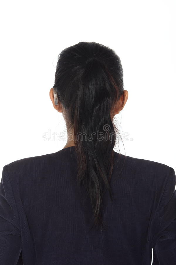 亚裔妇女前面组成发型 没有修饰,新面孔 库存照片