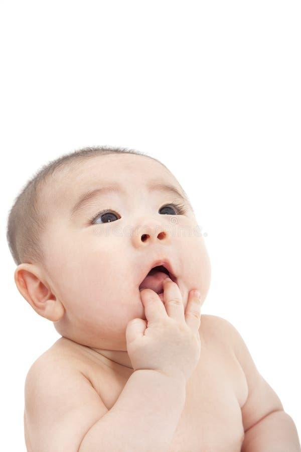 亚裔婴孩 库存照片