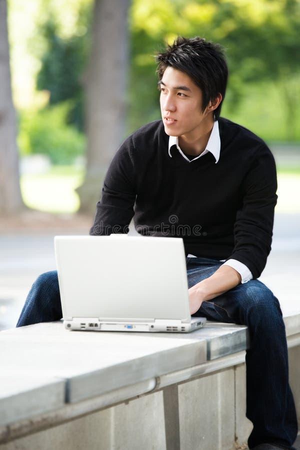 亚裔学员 免版税库存图片
