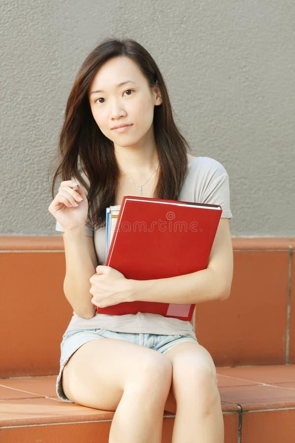 亚裔学员 免版税图库摄影