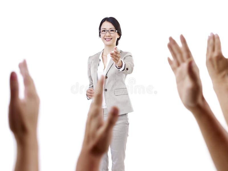 亚裔学校教师 库存照片