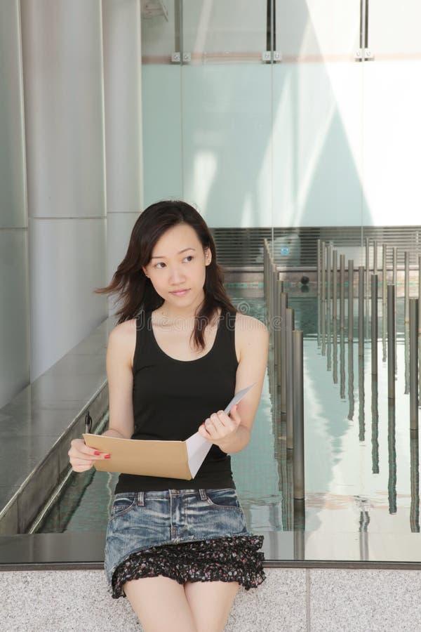 亚裔学生 免版税库存图片