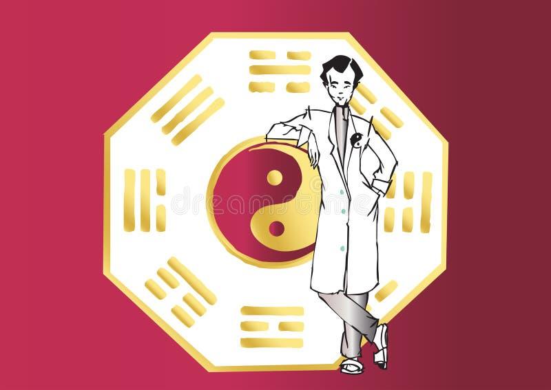 亚裔工作系列治疗学家 向量例证