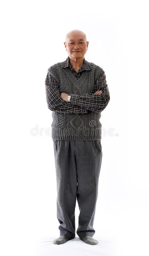 亚裔年长人 免版税库存照片
