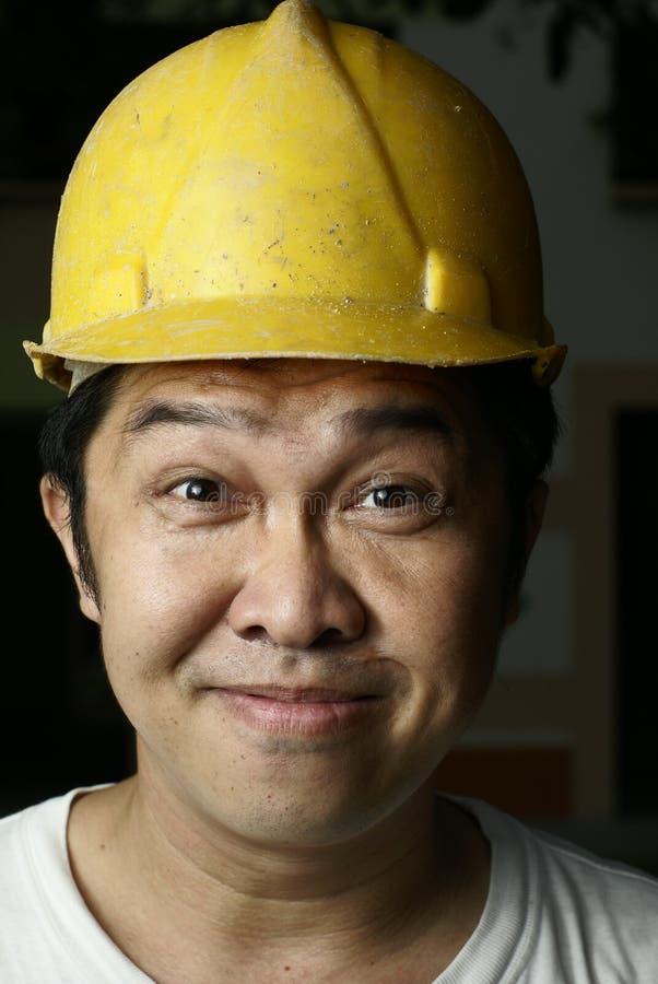 亚裔建筑工人 图库摄影