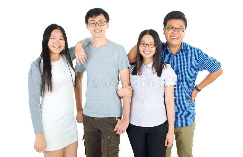 亚裔愉快的学员 免版税库存图片