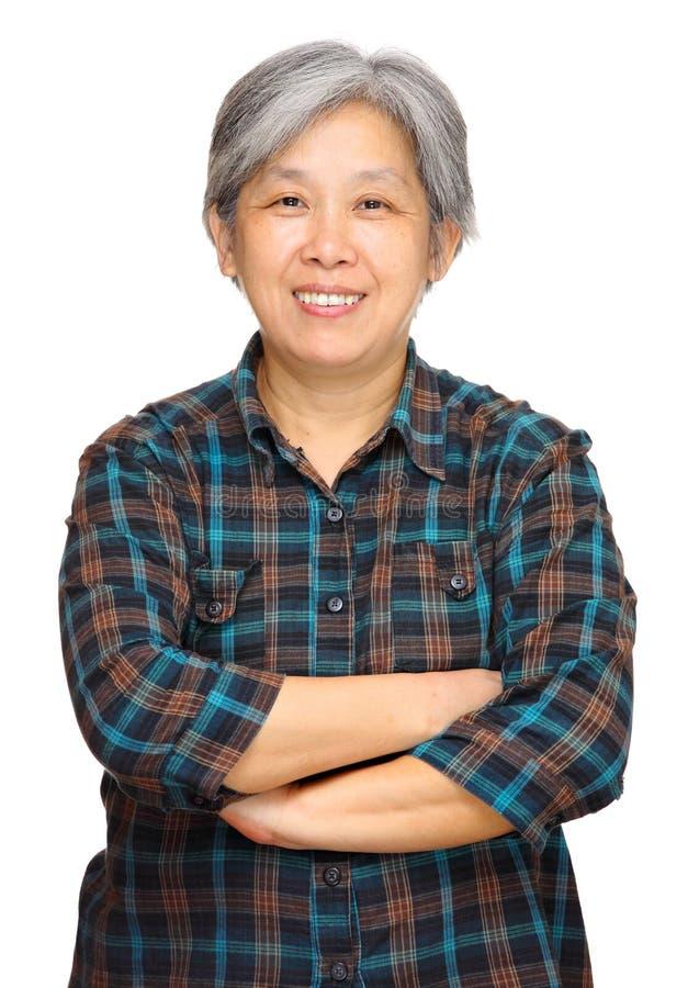 亚裔成熟妇女 库存照片