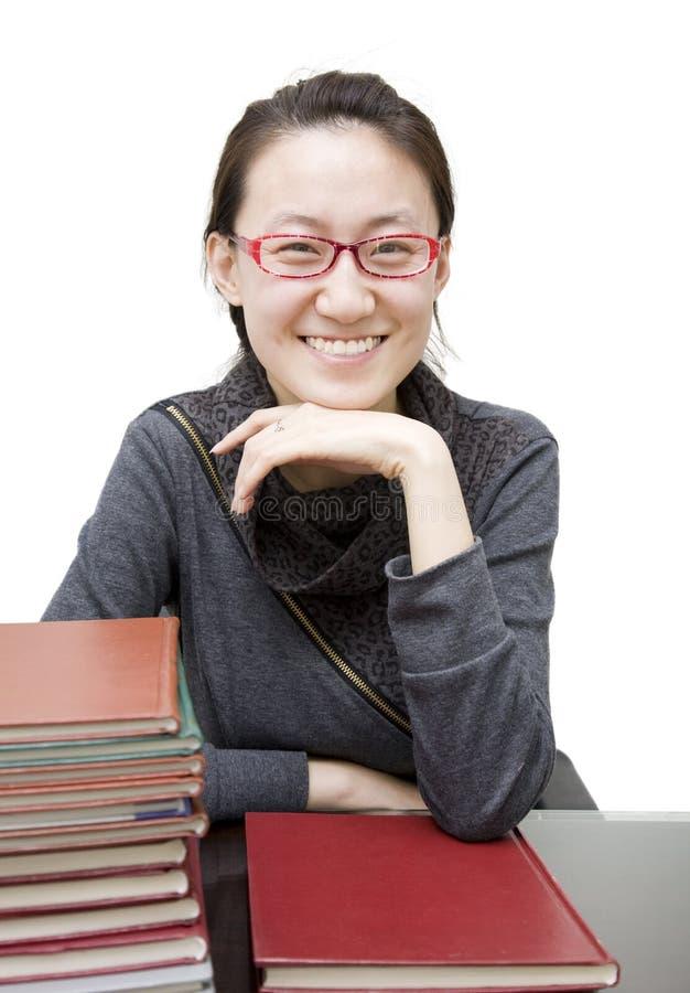 亚裔教师 库存照片