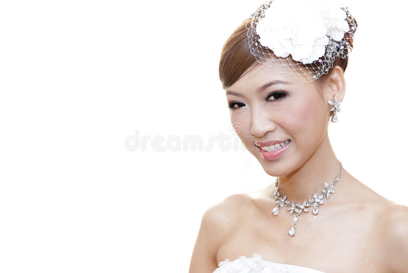 亚裔新娘 库存图片