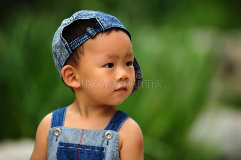 亚裔男孩 免版税库存图片
