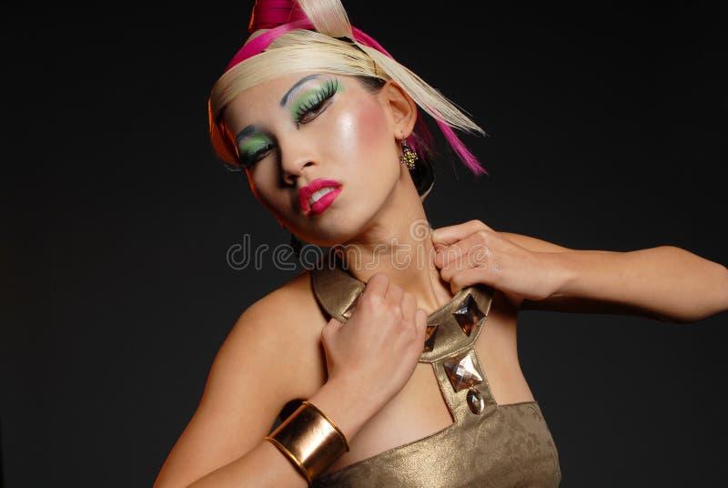 亚裔美丽的女孩 免版税库存图片