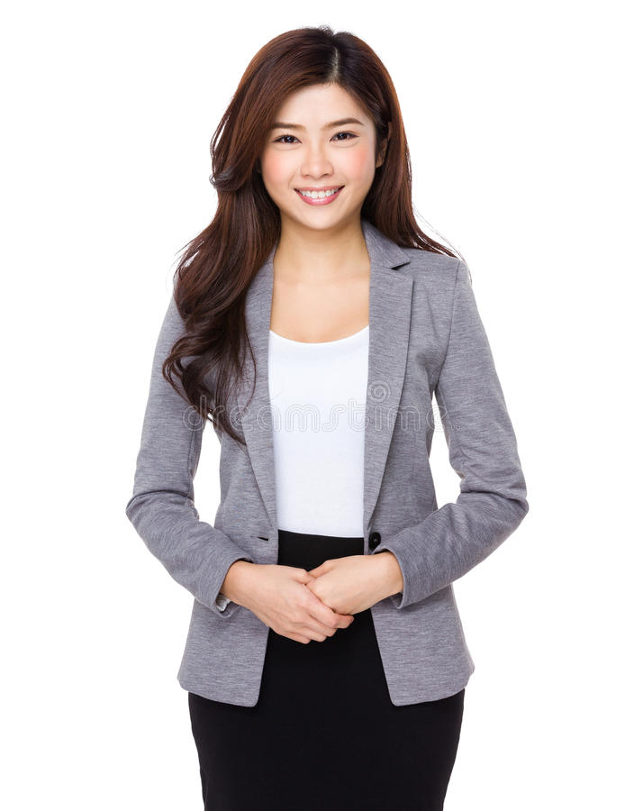 亚裔美丽的女实业家 库存照片