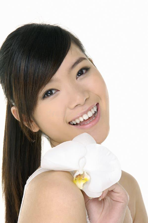 亚裔美丽的妇女 库存照片