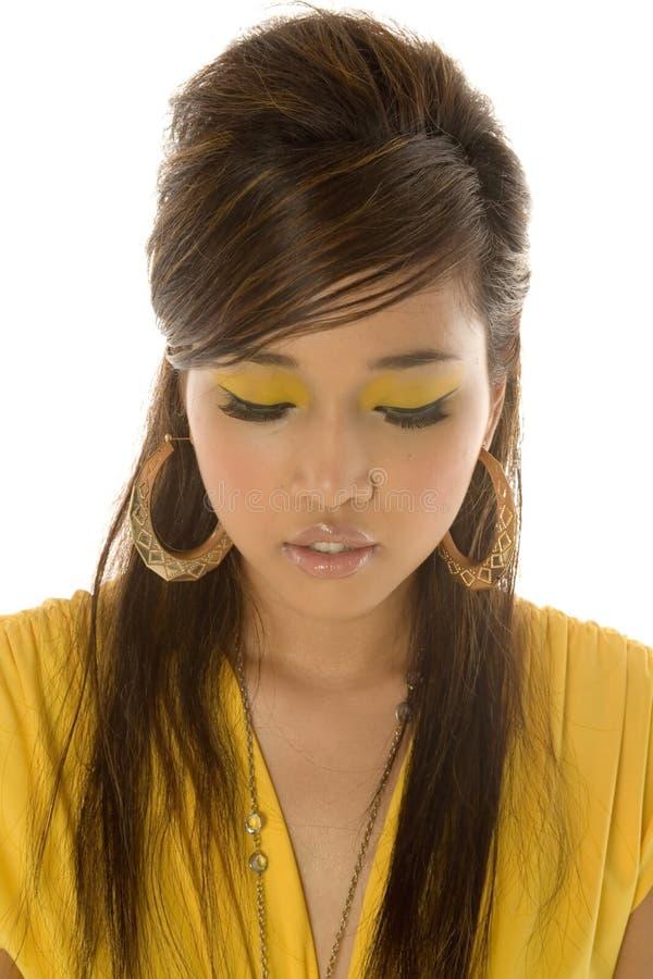 亚裔美丽的性感的妇女 库存照片