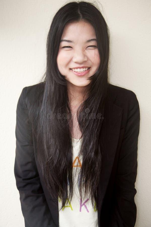 亚裔美丽的黑人女孩 库存图片
