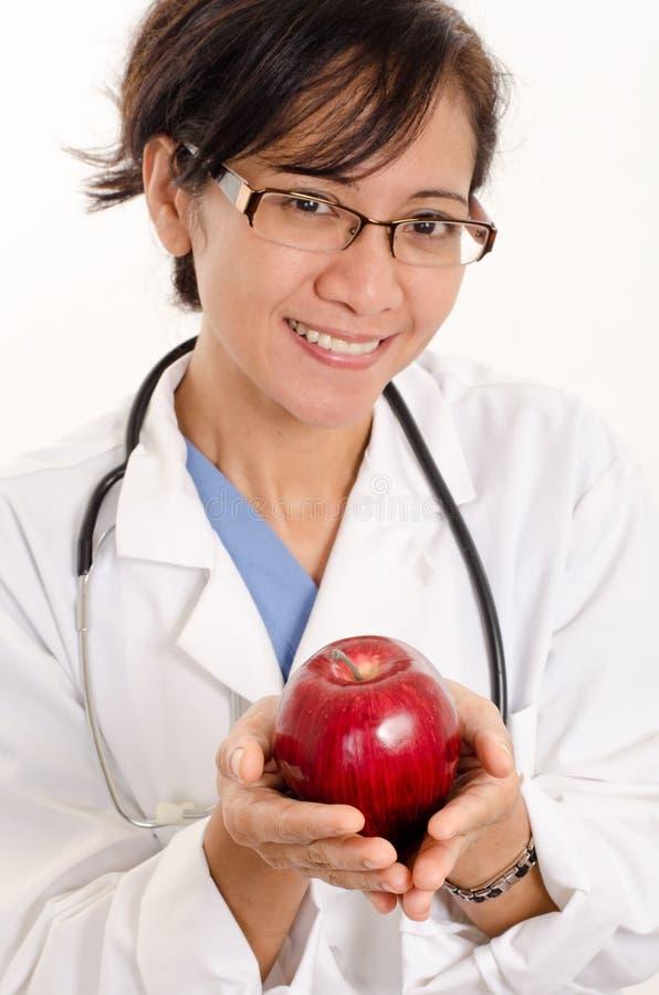 亚裔美国人医疗保健工作者 免版税库存照片