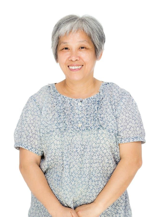 亚裔老妇人 免版税库存图片